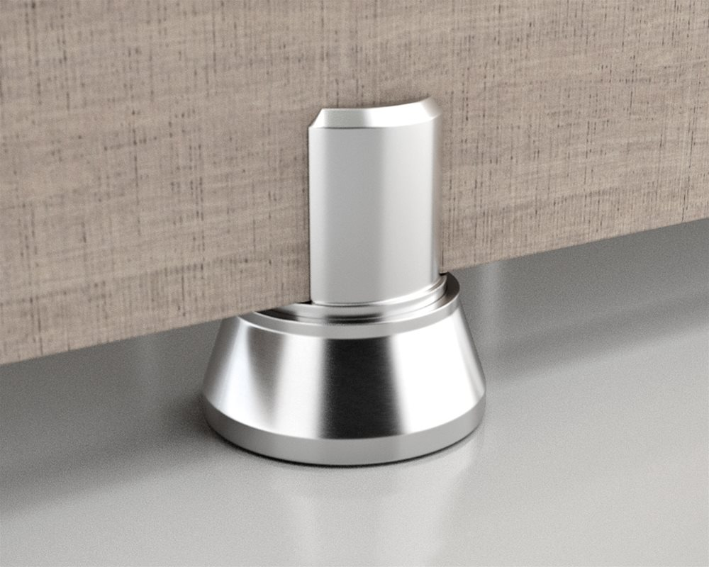 Paraline Platinum Stainless Steel Pedestal Foot for a 20mm floor clearance
