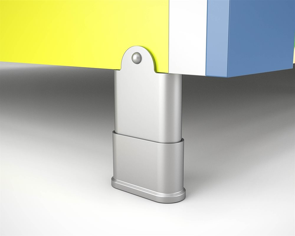 Profiles Kids Aluminium Pedestal Foot in Charcoal Powder Coat