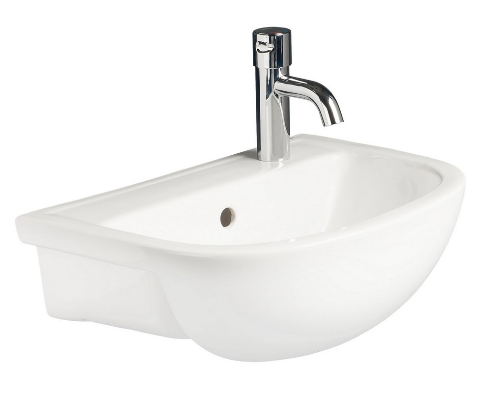 Chartham Semi Recessed Basin 450 RHTH