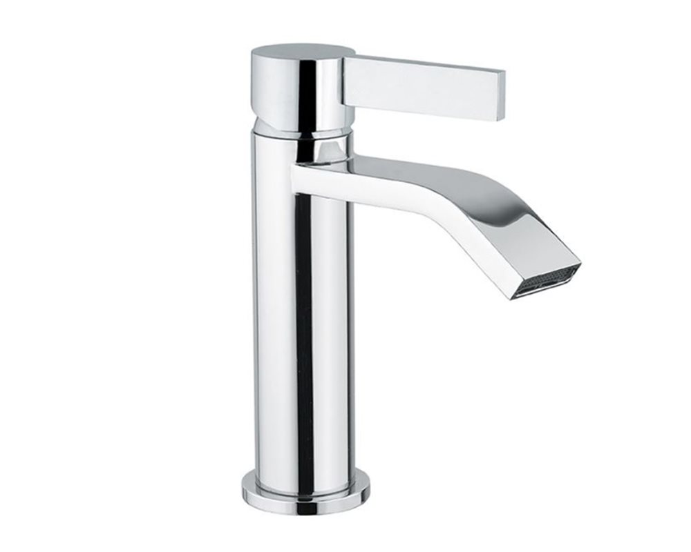 Langley Mono Basin Mixer Tap on white background