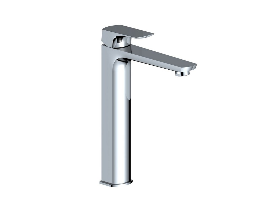 Marden Tall Mono Basin Mixer Tap on white background