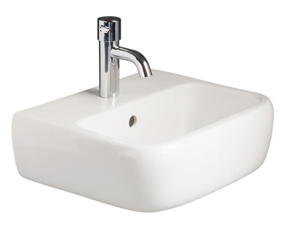 Marden 420 Wall Hung Basin CTH on white background