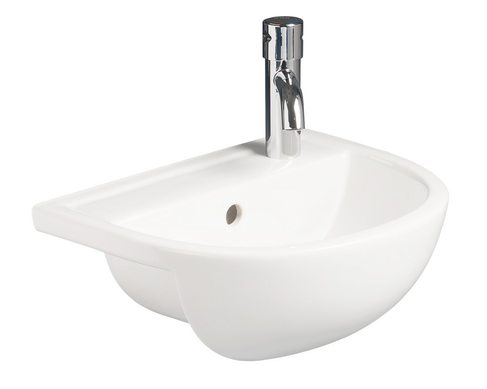 Shenley 400 Slim Semi Recessed Basin RHTH