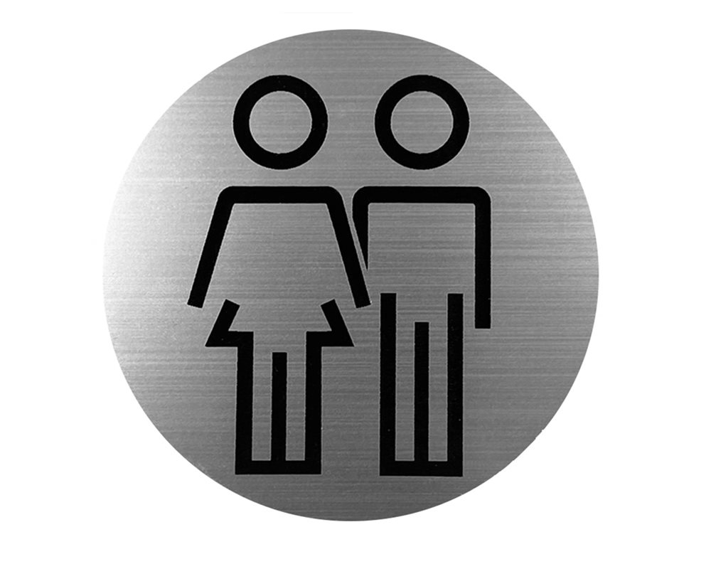 Unisex WC Door Sign