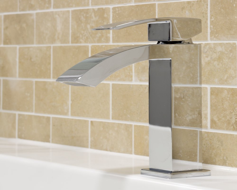 Swoop mixer tap pre-plumbed to Solid Surface wash trough