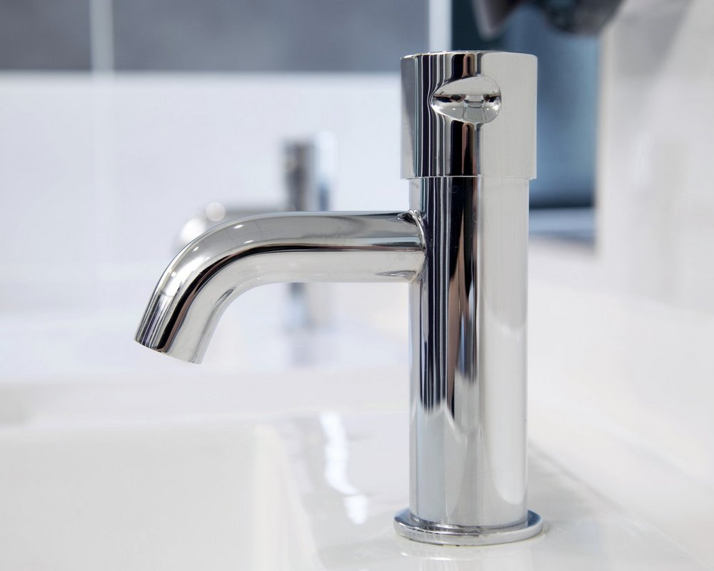 Huddersfield University SanCeram chrome tap on white ceramic sink