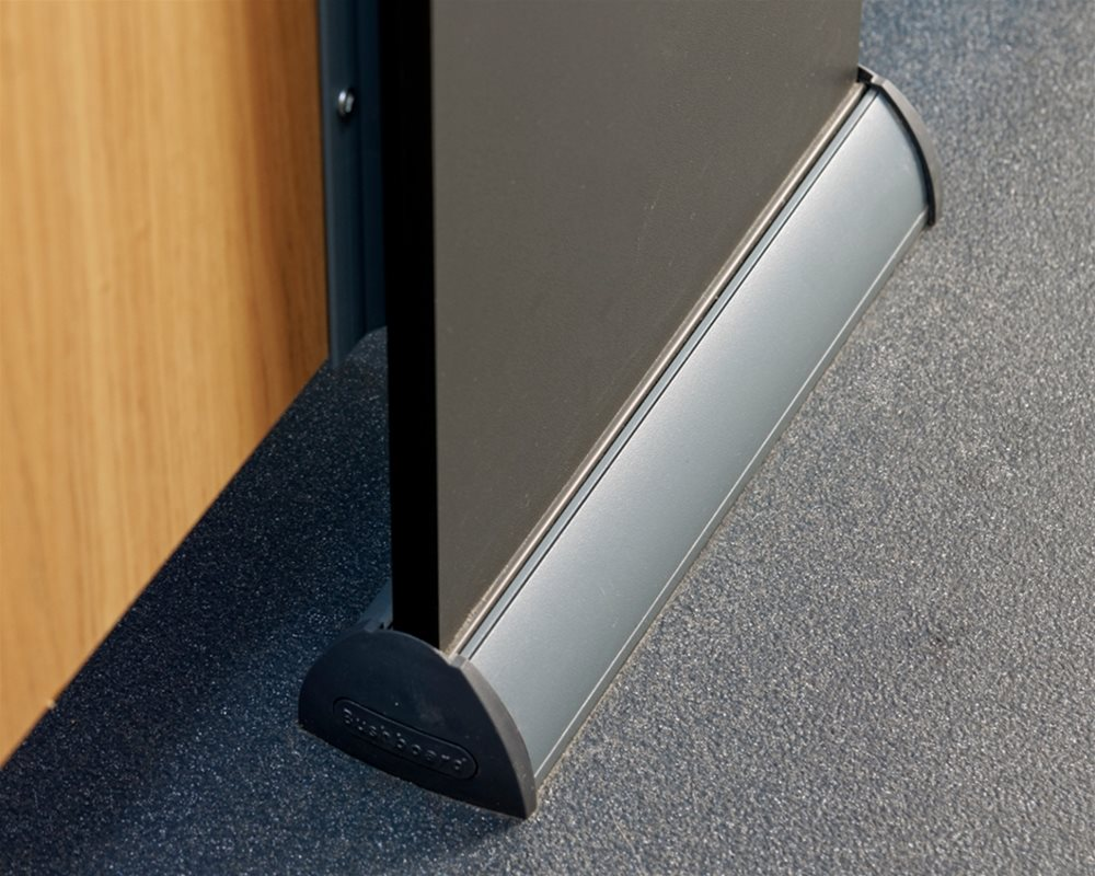 The Copper Kettle charcoal grey 'Quadro' cubicle foot
