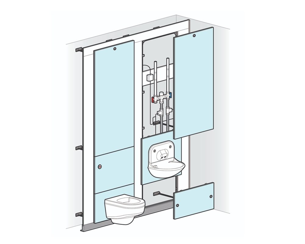 High Risk with Wall Hung WC