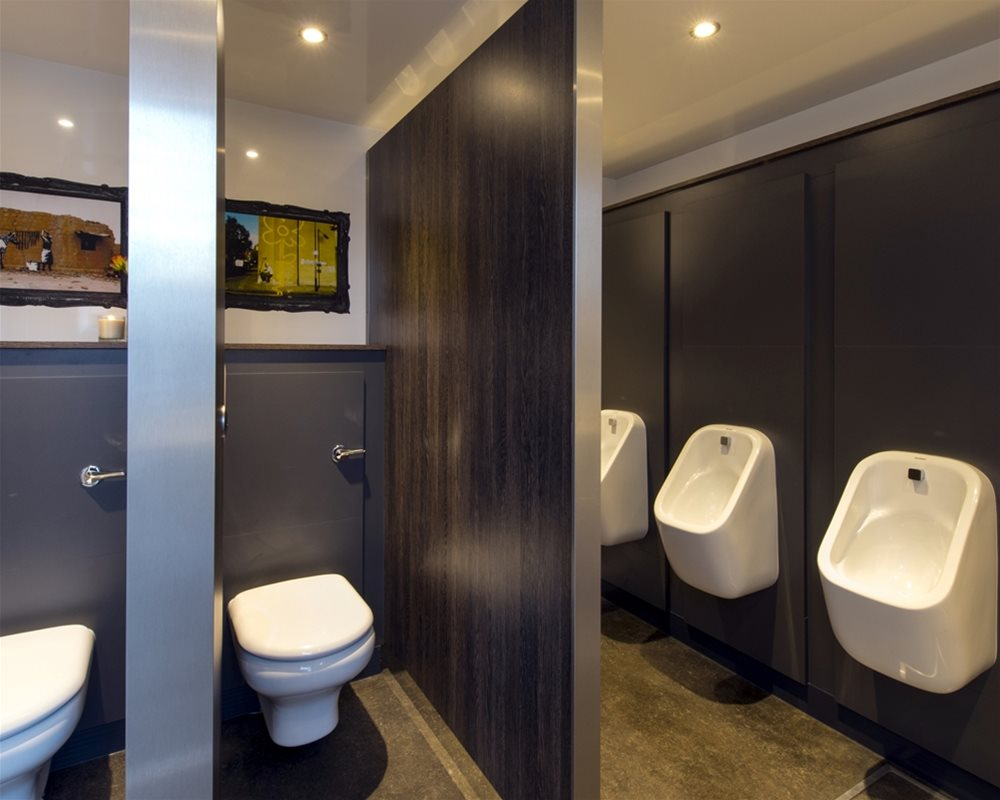 Loos for Dos portable washroom with Chartham WCs and urinals