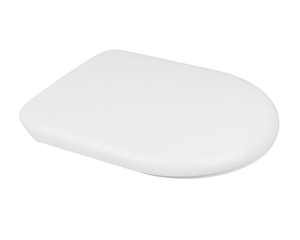 Chartham white toilet seat and cover on a white background