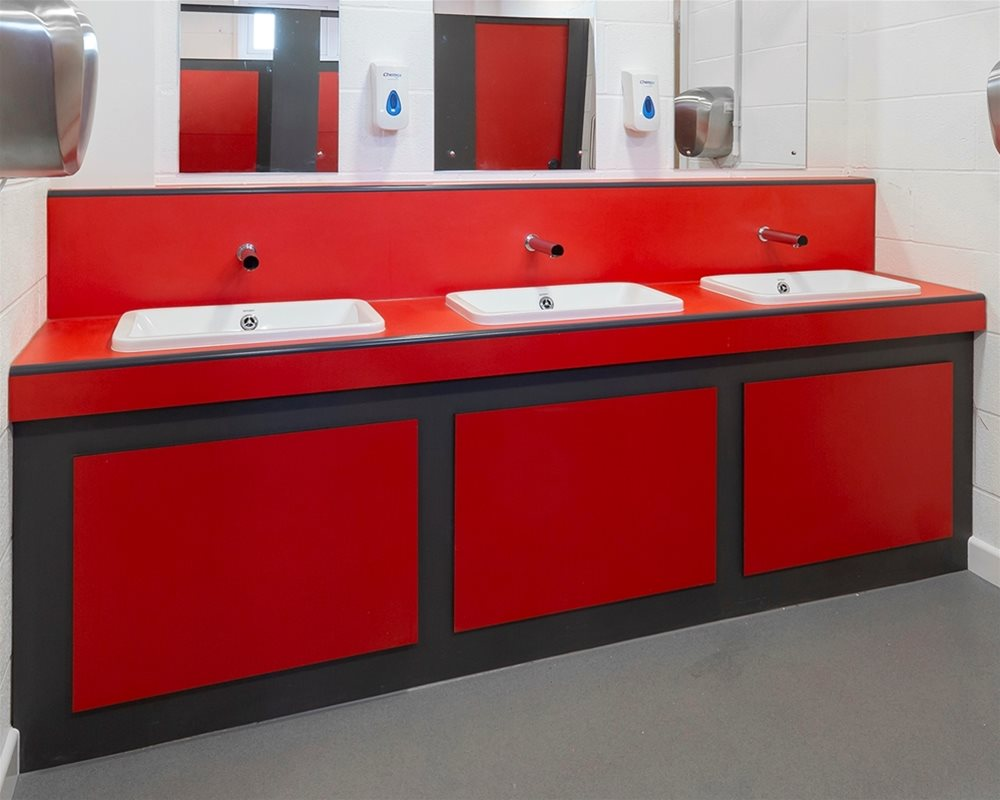 Bushboard Washrooms -  Ready Plumbed Module Vanity Units