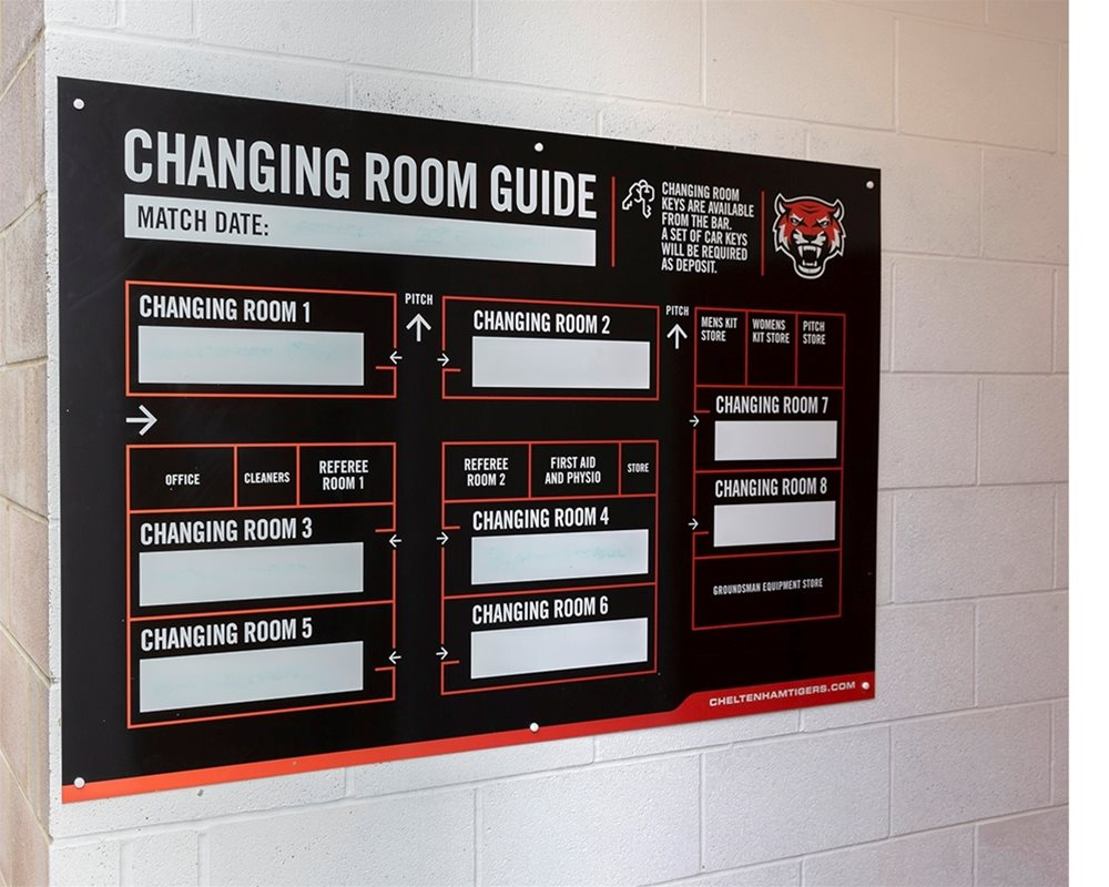 Cheltenham Tigers sports changing room guide