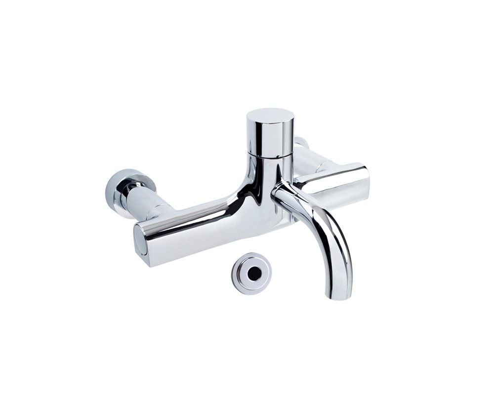 SanCeram Healthcare Sensor Tap with Removable Spout in Chrome on white background