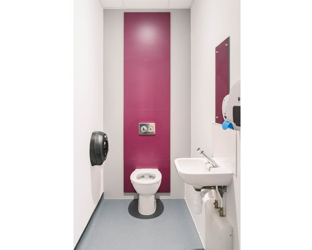 Bushboard Washrooms | WC panel only ducting