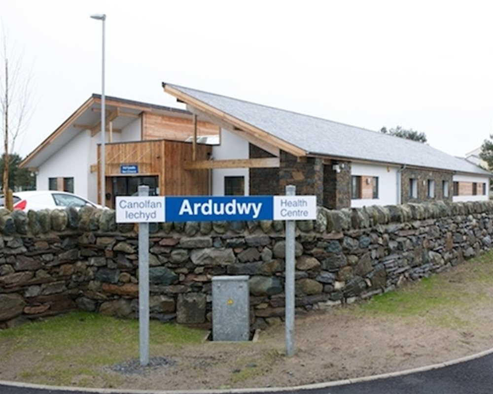 Outside view of Ardudwy Health Centre in Harlech Wales