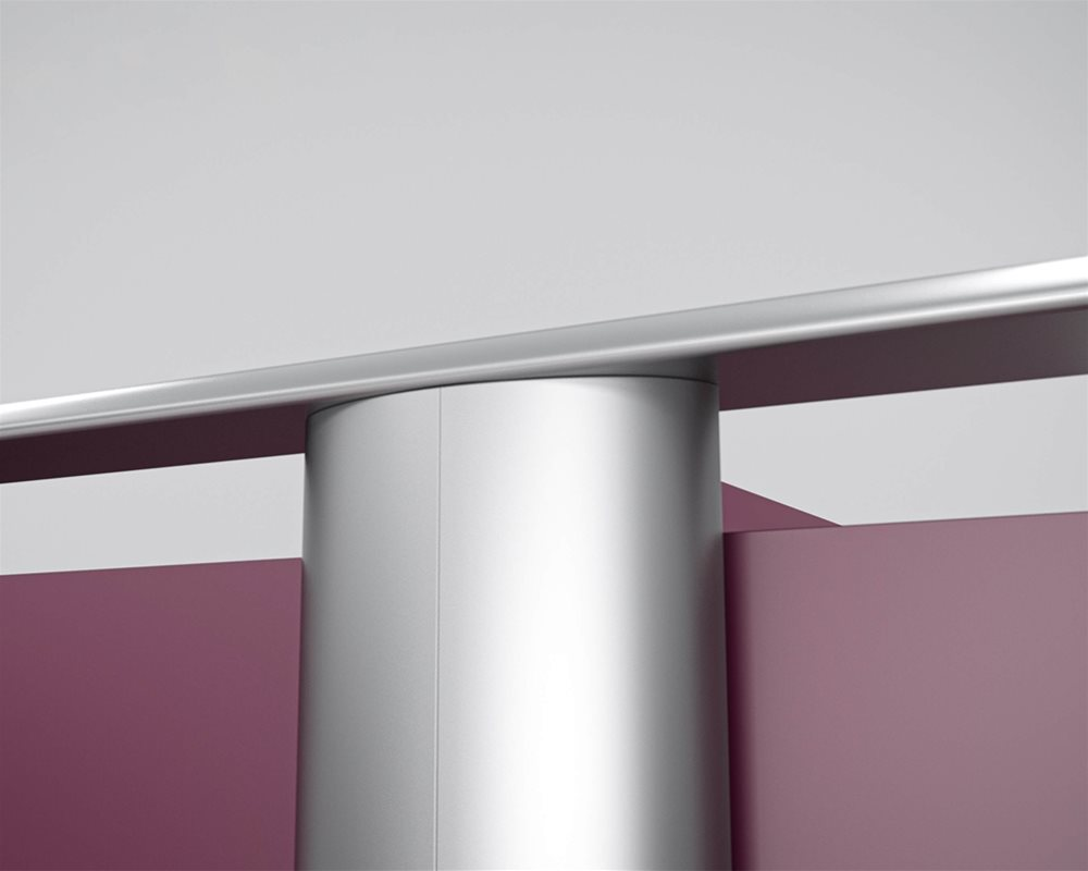 Aero Element Curved Pilaster Top Fixing with powder coated finish