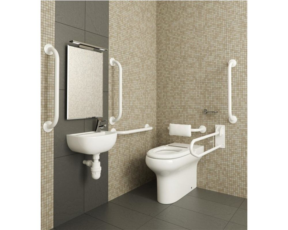 Doc M Pack with back to Wall WC, Grey